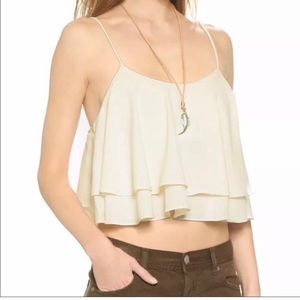 Free People Flowy Ivory Cami Top